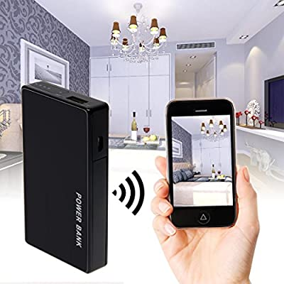 ALON HD 1080P Multifunction WIFI Spy Hidden Camera 3000mAh Mobile Power Bank Hidden Security Cam Nanny Cams Night Vision Motion Detective Mini DV Support SD Card Video and Audio Recording from ALON