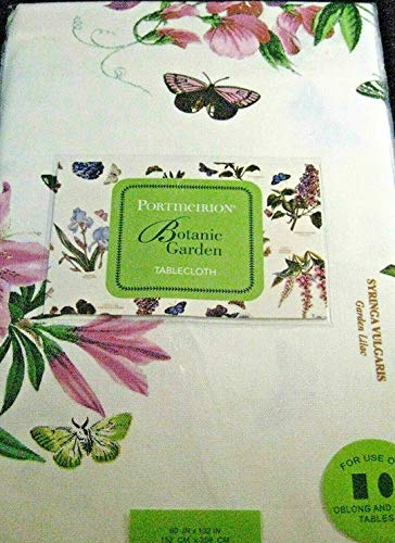 - Portmeiron Botanic Garden by Avanti Tablecloths-Assorted Sizes-Oblong/Oval and Round (60 x 102 Oblong/Oval)