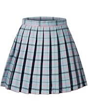 Women's High Waisted Pleated Mini Shorts Skirts Cosplay Costumes S-4XL 13 Colors