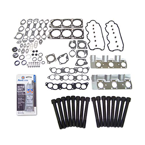 Head Gasket Set Bolt Kit Fits: 87-00 Chrysler Hyundai Mitsubishi 3.0L SOHC 12v ()