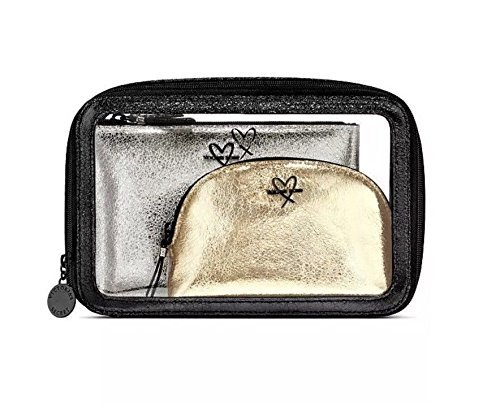 Victoria's Secret Metallic Nested Trio Cosmetic Bag Set
