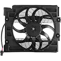 SucceBuy Cooling Fan Fit For BMW Condenser Cooling Fan Assembly E39 528 540I 97 98 Radiator Cooling Fan For Car For 64548380780 CE