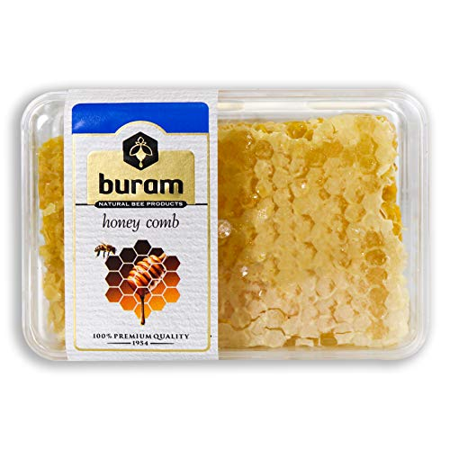 Buram 100% Pure, All-Natural, Gourmet Raw Honeycomb, No Additives, No Preservatives, Fresh From The Farm! ()