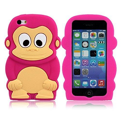 Apple iPhone 5C Silikon AFFE PINK Design Schutz Handy Hülle Case Tasche Etui Bumper thematys®