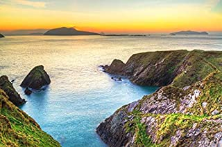 product image for Sunset Over Dunquin bay on Dingle Peninsula, Co. Kerry, Ireland A-9003282 (24x36 Giclee Gallery Print, Wall Decor Travel Poster)