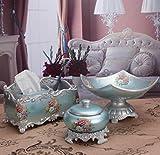 Handicrafts European Retro Gradient Fruit Plate Set Tissue Box Home Decorations Wedding Gift Decoration Set