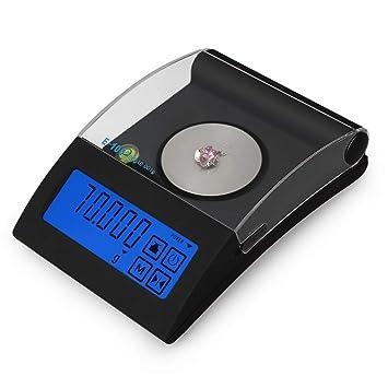 WANGXN Básculas para joyería Escala de Bolsillo Digital de Alta precisión con Pantalla LCD retroiluminada, Black, 100g/0.001g: Amazon.es