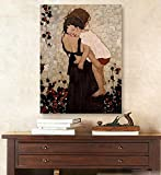 Hand-painted master quality oil painting Gustav Klimt Mother And Child Art Canvas oil painting wall art Portrait of artwork