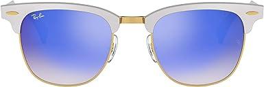 TALLA 49. Ray-Ban Clubmaster Aluminum Gafas de sol Unisex Adulto