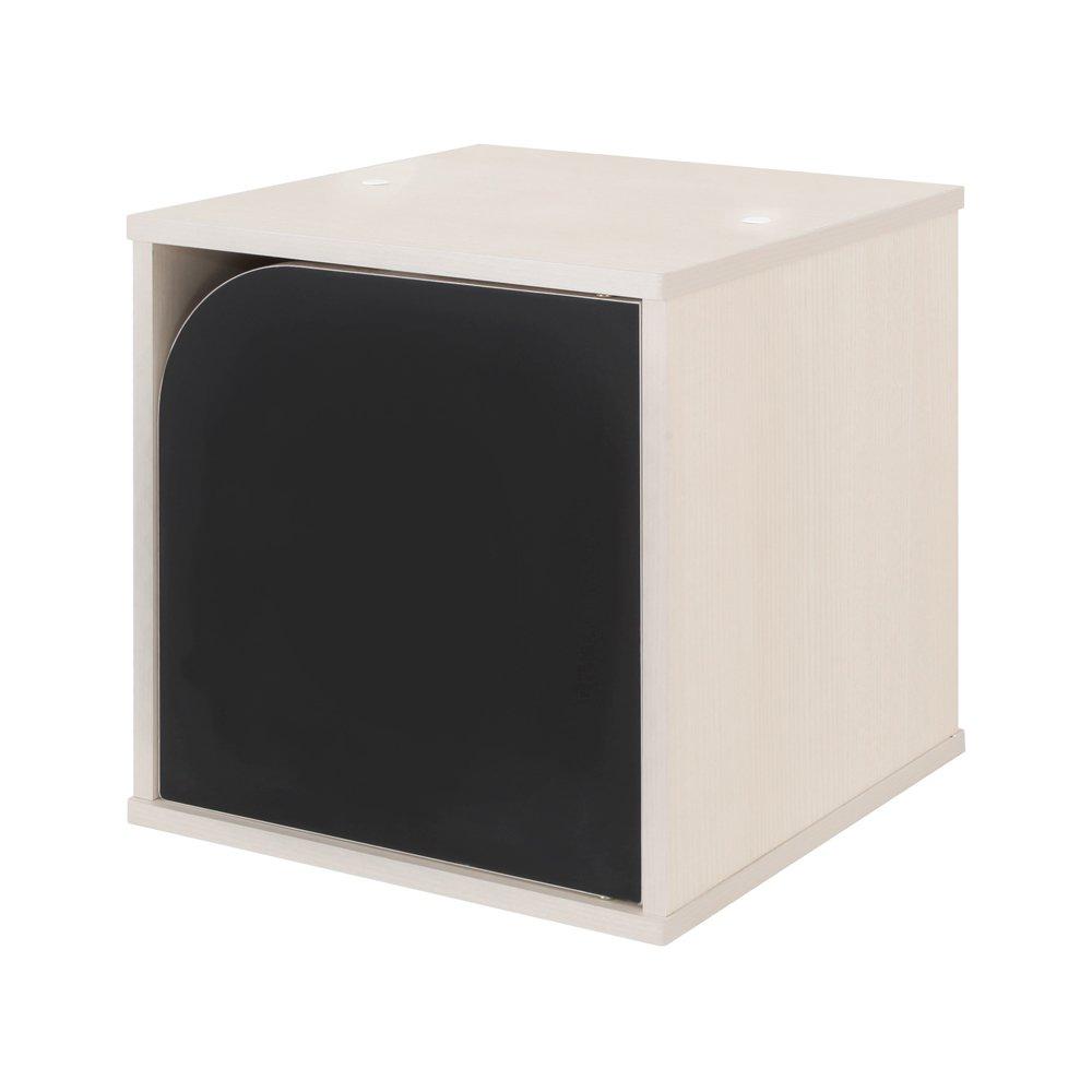 【JAJAN】[国産]黒板ユニットラック『ブランキー』扉タイプ ホワイトアッシュ【おまけチョーク付き】[完成品][キッズ家具][低ホルムアルデヒド][合わせて3個以上購入で5%OFF] B01LX7HLNA
