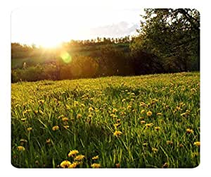 Decorative Mouse Pad Art Print Landscape and Plants Spring Meadow