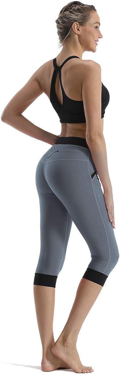 Rocorose Womens Yoga Pants High Waist 4 Way Stretch Pockets Workout Running Fitness Leggings