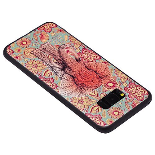 Funda Samsung Galaxy S8 Plus, Carcasa Samsung Galaxy S8 Plus G955, JAWSEU Samsung Galaxy S8 Plus Carcasa Cover Caso Creativa Diseño de Animados 3D Ultra Delgado Suave TPU Silicona Carcasa Funda para S Alivio Elefante