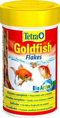Tetra Goldfish Flakes – Alimento para todos los peces dorados y otros peces de agua fría, 100 ml