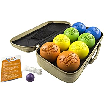 Bocce Ball 100mm Regulation Bocce Set W 8 Balls Pallino Case & Measuring Rope Premium Offic