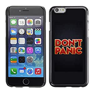Paccase / SLIM PC / Aliminium Casa Carcasa Funda Case Cover para - Don'T Panic Red Gold Red Text Poster - Apple Iphone 6