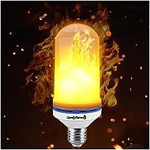 [Patrocinado] Efecto de llama luz LED foco, E26, rosca Edison bombillas de luz parpadeante, simulated decorativo atmósfera iluminación clásico real Flaming foco último modelo de 2018con 105LEDs por comfyflame