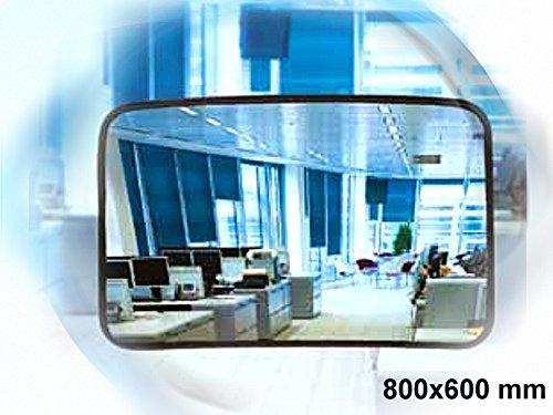 Kontrollspiegel - (Spiegel aus Acrylglas) 800x600 mm - Ideal für unübersichtliche Ecken und Räume