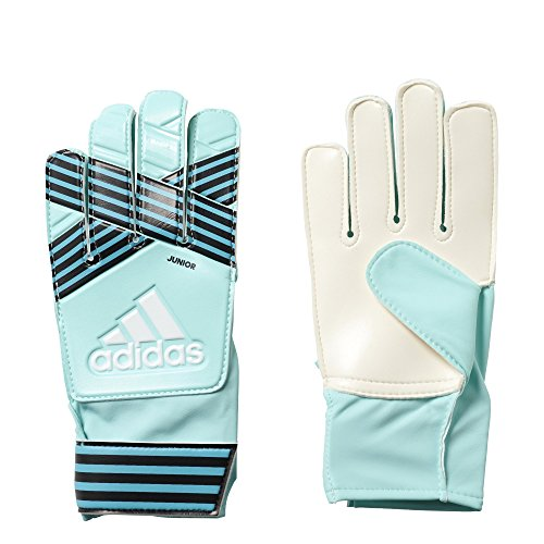 adidas Performance ACE Junior Goalie Gloves, Energy Aqua/Energy Blue, Size 8 (Aqua Glove)