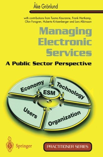 Managing Electronic Services: A Public Sector Perspective (Practitioner Series)