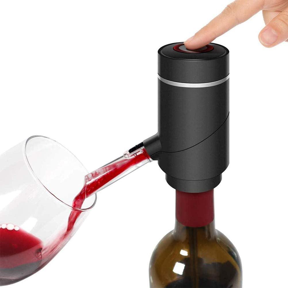 Heatile Aireador eléctrico de Vino, Bomba de un Solo Toque, dispensador de Vino para Vino Tinto y Blanco se Adapta a la mayoría de Las Botellas: Amazon.es: Deportes y aire libre