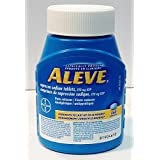 Aleve Pain Reliever And Fever Reducer Strength to last up to 12 hours Naproxen Sodium Tablets, 220 mg - 250 Caplets
