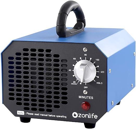 Generador de ozono comercial 6000 mg Industrial O3, purificador de aire, desodorante y eliminador de olores esterilizador: Amazon.es: Hogar