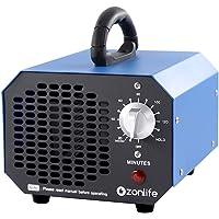 Ozongenerator Luchtreiniger, 6.000 MG/h, ozonluchtreiniger met timer, geschikt voor ruimtes, huishoudens, kelders
