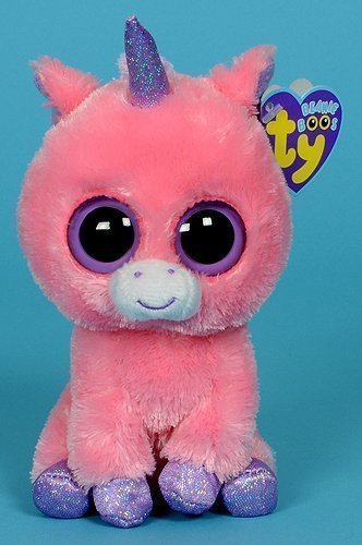 Amazon.com  Ty Beanie Boos Magic Unicorn Toy Pink Stuffed Toys 15cm TY Big  Eyes Plush Animals Brinquedos Kids Soft Toys for Children  Baby c1dc87f4c430