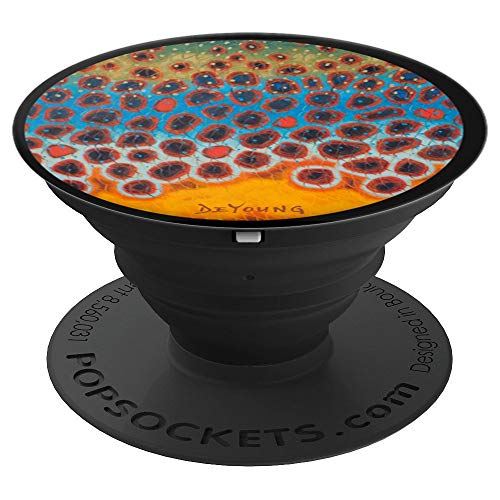 Brown Trout Skin Flank Fly Fishing Fisherman Derek DeYoung - PopSockets Grip and Stand for Phones and Tablets