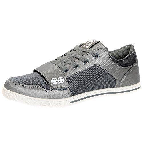 Crosshatch - Zapatillas de Material Sintético para hombre Negro negro size 41 EU gris