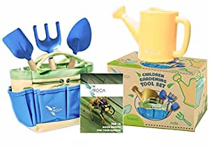 Gardening Tools for Kids with STEM Early Learning Guide by ROCA Home. Summer Beach Toys, Outdoor Toys and Learning Toys. Cute Garden Bag.