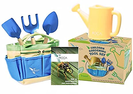 Gardening Tools For Kids With STEM Early Learning Guide By ROCA Home.  Christmas Garden Toys