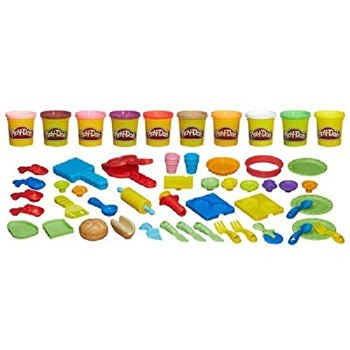 Play Doh Chef Supreme Play Kitchen Set with 40 Accessories (Play Dough Lunchtime compare prices)