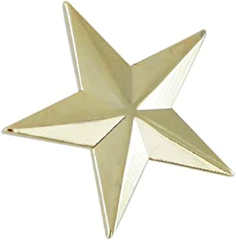 WIZARDPINS 3D 5 Point Gold Star Lapel Pin