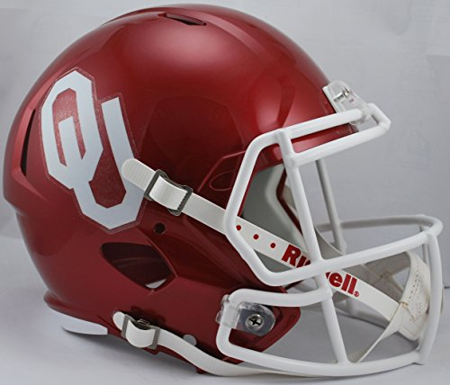 NCAA Oklahoma Sooners Full Size Speed Replica Helmet, Red, Medium by Riddell