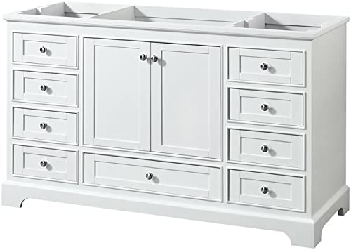 Wyndham Collection WCS202060SWHCXSXXMXX Deborah Single Vanity Cabinet