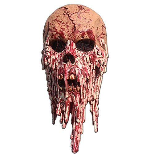 Halloween Bloody Horror Melted Face Scary Halloween Mask for Costume (Very Scary Halloween Costumes)