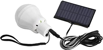 Lámpara Solar Portátil Bombilla, Energía Solar Portátil 12 LED Bombilla Recargable 1000mA para Camping Senderismo Pesca Panel Solar Powered Emergency ...