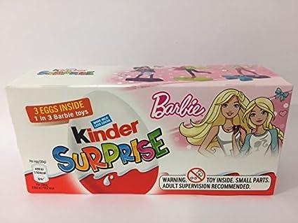 Kinder Surprise Barbie 3 Pack Huevos de Pascua y Juguetes 60g ...