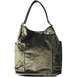 Handbag Republic Women Handbag PU Leather Top Handle Bag Korean Fashion Tote Style With Side Zipper Pouch (Velvet Olive)