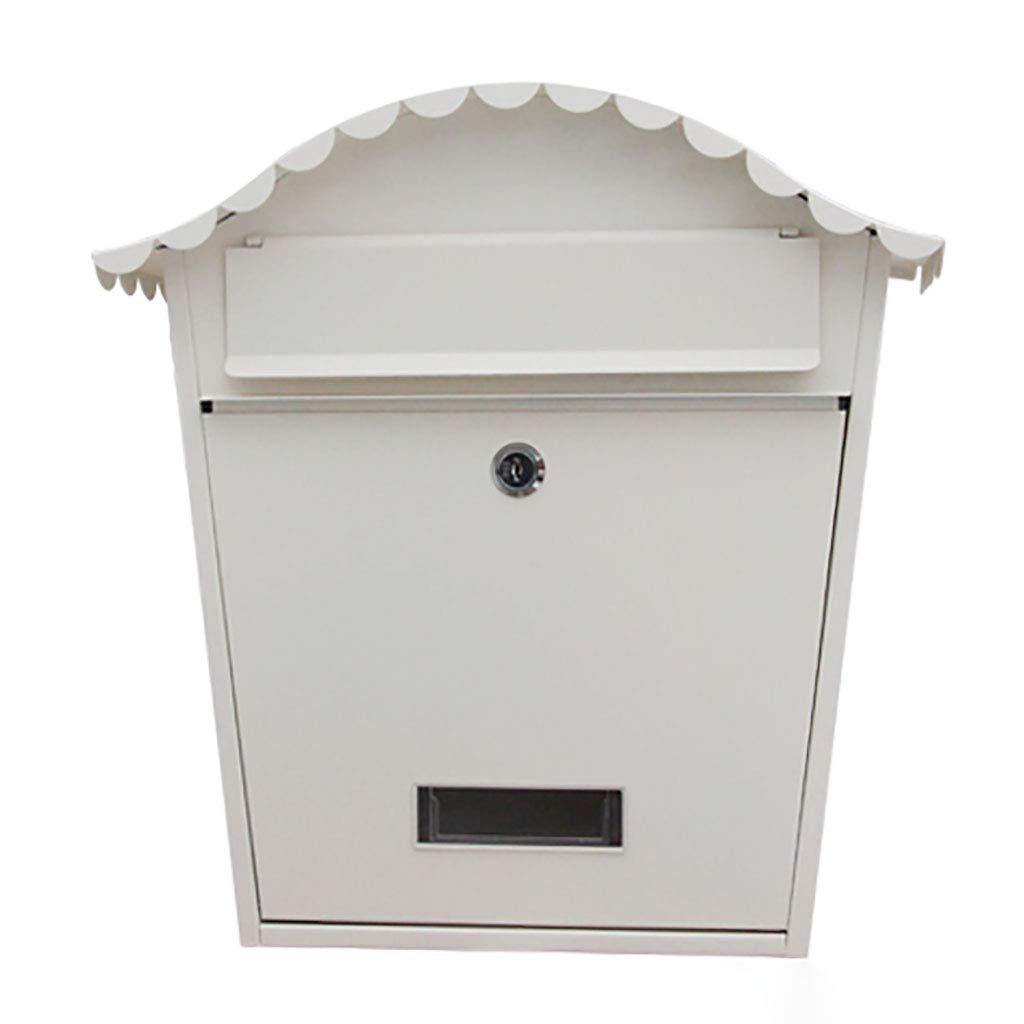 レターボックスクリエイティブアウトドア防水多機能メールボックスヴィラ屋外壁掛け(カラー:ホワイト)  White B07TV2X8QK