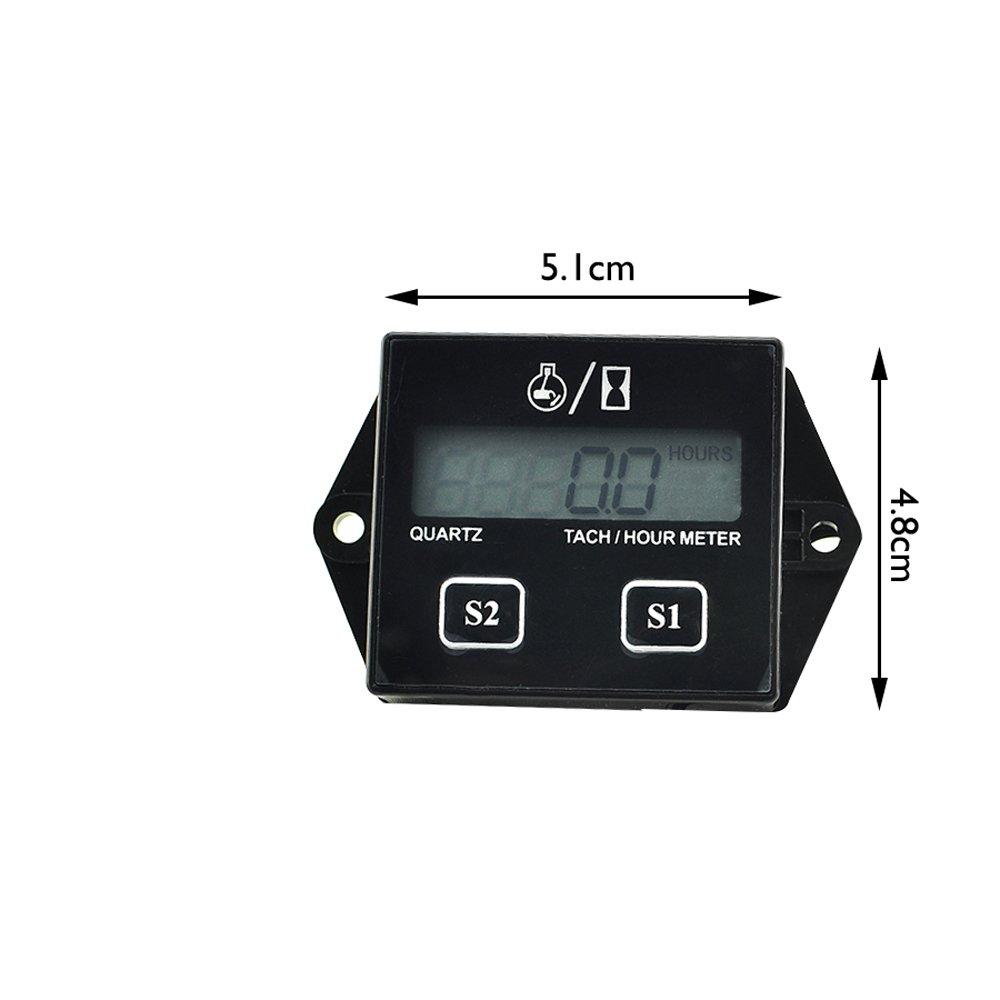 funwill Bujías Motor tacómetro láser digital hora metro tacómetro medidor para moto ATV: Amazon.es: Bricolaje y herramientas