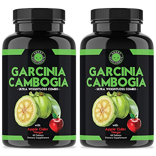 Angry Supplements Garcinia Cambogia with Apple Cider Vinegar Pills for Weightloss - Best Natural Detox Remedy Includes Gymnema, Cinnamon, Ketone for A Complex Diet, Health, and Nutrition (2-Pack)