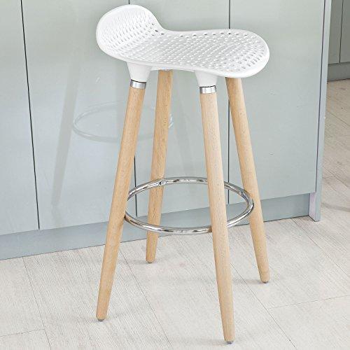 SoBuy-Taburete-de-bar-con-patas-de-madera-de-haya-natural-asiento-en-color-Blanco-FST35-W-ES