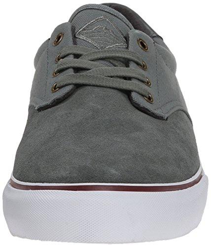 Dekline Uomo Dakota Scarpa Da Skateboard Castor Grey / White