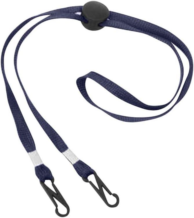 MEIbax Deportes Cordones de Cubierta de Cara para Mujeres y Hombres, Clips de Soporte de Babero Flexible Correa Clips de Collar de Cubierta Facial Portátil Cordón de Sombrero de Pescador