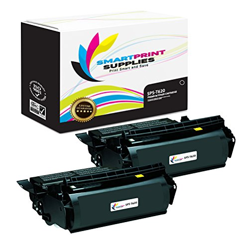 Smart Print Supplies 12A6865 Lexmark T620 T622 Premium Black 2-Pack Compatible Toner Cartridge Replacement (30,000 Pages)