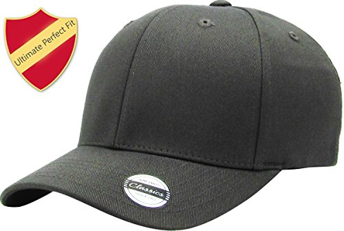 KBE-EZ FIT DGY S/M Blank Stretch Cotton Twill Fitted Hat Spandex ()