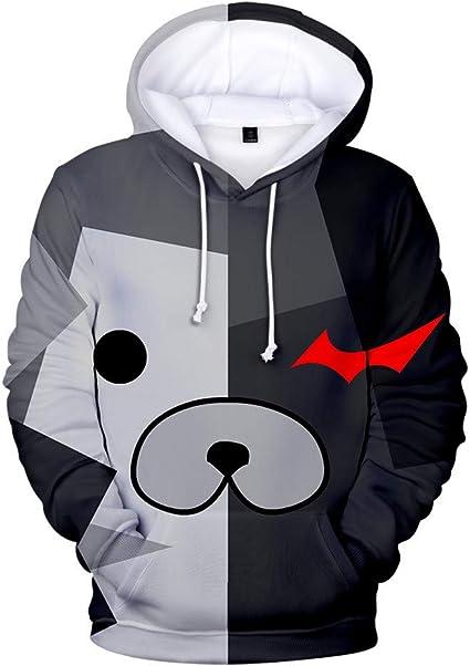 HHNN Panda Enfants 3D Mignon Sweat /À Capuche Cosplay Costume Costume Sweat /À Capuche Unisexe Sweat /À Capuche Blanc Casual Veste /À Manches Longues Noir Taille: XXS-150 Blanc